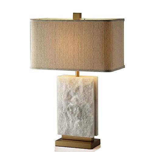 VIWIV Luz en el dormitorio lámpara de escritorio nuevo chino mármol natural minimalista salón lámparas hotel dormitorio den modelo casa creativo lámpara decorativa 40 * 70 cm