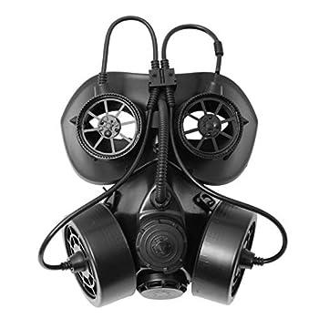 ILOVEMASKS Black Gothic Halloween Burning Man Steampunk LED Light Gas Mask Masquerade Respirator Goggles Adult Costume Victorian Steampunk Gas Mask Respirator Cosplay