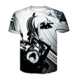 RelaxLife Herren 3D Druck T-Shirt Men 3D Technics Plattenspieler Dj Music Audio Print Kurzarm T-Shirt Mit Rundhalsausschnitt Trend Kurzarm T-Shirt Herren Phonograph