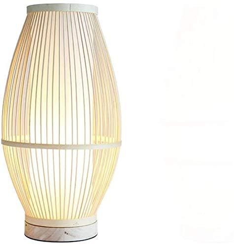 KEYREN Mis mejores deseos Tienda Lámpara de mesa creativa moderna moderna lámpara de bambú de la lámpara de bambú de la cama de la cama de la cama de la cama de la cama del estudio del interruptor del