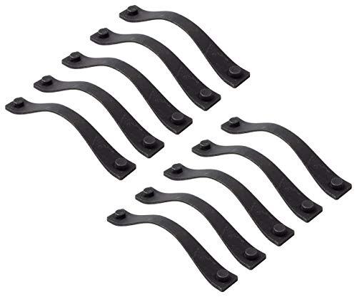 Gedotec Design Schubladen-Griff Vintage 160 mm Möbelgriff Antik schwarz matt Bogengriff Küche - AGAVE | Bügelgriff aus Metall für Möbel & Kommoden | 10 Stück - Türgriffe Schranktür mit Schrauben