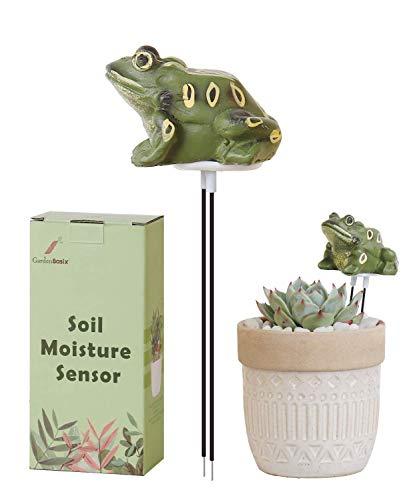 GardenBasix Frog Soil Moisture Meter Houseplant Watering Alarm Plant Water Tester Hygrometer Sensor for Planter Water Remind Warning Alert Content (Green) …