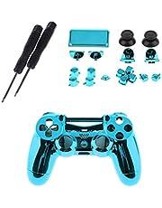 ブルー フロントハウジング シェルケース フルボタンセット キット ドライバー付き Sony PS4 Pro のために適した