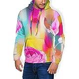 Men's Graphic Print Hoodie Hadley Hutton Spring Faux Fur Lining Sweatshirts Pullover