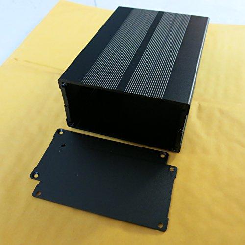 150x105x55mm Aluminiumgehäuse Aluminium Gehäuse Leergehäuse Alubox Metallgehäuse schwarz enclosure Projekt Box Elektronik Netzteil PCB Schaltschrank Aluminiumkasten Instrumenten Kühlbox