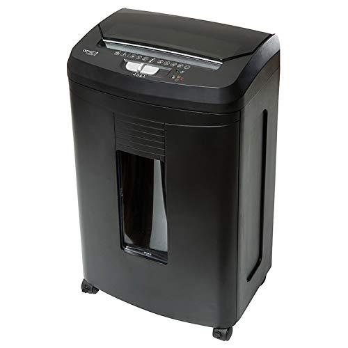 Genie 110 AFX Hochsicherheits Aktenvernichter mit automatischem Einzug, bis zu 100 Blatt, Partikelschnitt - Shredder (Sicherheitsstufe P-4), inkl. Papierkorb -geeignet nach DSGVO 2018, schwarz