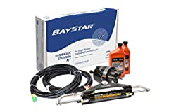 Gives 5 wheel turns lock-to-lock when using BayStar outboard cylinders Kit Includes: (1) BayStar helm pump (HH4314-3) (1) BayStar cylinder (HC4645H) (2) Hydraulic steering fluid (HA5430) (1) Filler kit (HA5438) Also includes (1) BayStar tubing kit (H...