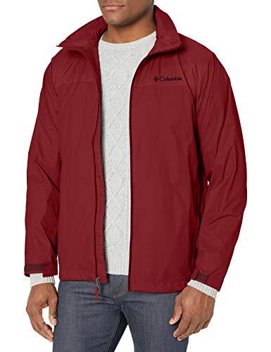 Columbia Men's Glennaker Lake Front-Zip Jacket, red jasper, Large
