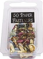 Creative Impressions Metal Paper Fasteners 50/Pkg-Round - Pearl