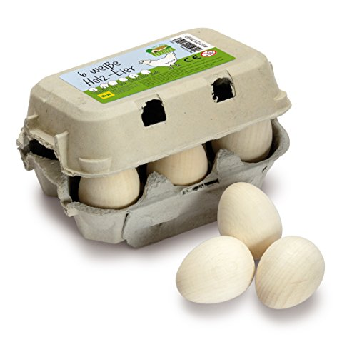 Eier, weiß im Karton