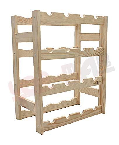 MODO24 Weinregal, Holz, unbehandelt, 43,5 x 25 x 54 cm, 11-Einheiten