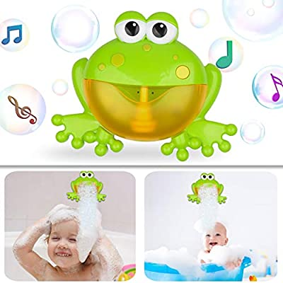 NARRIO Bath Toys for 1 2 3 4 Year Old Boys Birthday Gifts, Frog Bath Bubble Machine Bathtub Toys for Kids Age 2-5 Year Old, Funny Christmas Gifts for 1-6 Year Old Girls Toys for Toddler Age 1-3 Years