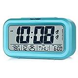 Peakeep Digital Alarm Clock with 2 Alarms for Weekday Mode, Indoor Temperature, Smart Sensor Night...