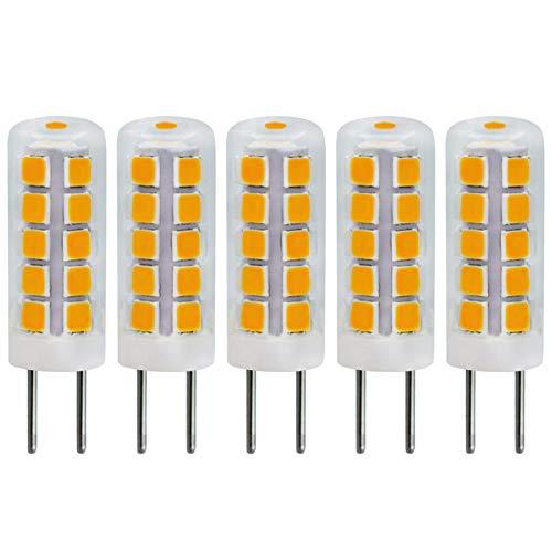 G4 LED Warmweiss 3000K 12V AC/DC 2W Stiftsockellampe Ersetzt 10W 20W Steckbirnen Halogen Für Wohnmobil, Unterbauleuchte, Dunstabzugshaube, Einbaustrahler, Nicht Dimmbar, 5er Pack [MEHRWEG]