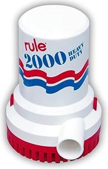 Rule 10 Bilge Pump 2000 GPH Non-Automatic 12 Volt