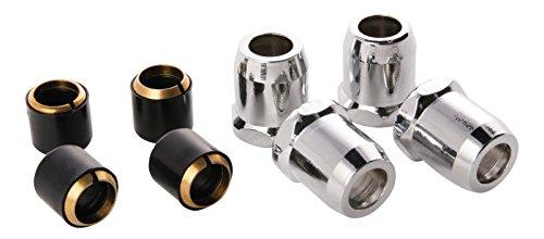Quetschverschraubung   Quetschüberwurf mit Längenausgleich   3/8 Zoll x 10 mm   4er-Set   Für Kupfer-Rohre   Anschluss von Armaturen   Verchromt