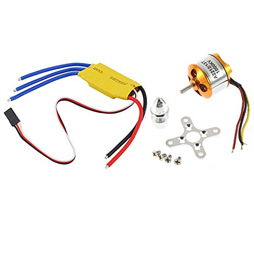 Unikel A2212 1000KV Brushless Outrunner Motor mit 30A Brushless ESC für DJI F450 550 RC Quadcopter