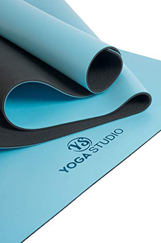 Yoga Studio The Grip Mat - Alfombrilla de agarre (183 x 61 cm, 4 mm), color azul