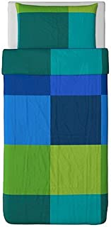 Ikea Brunkrissla Duvet Cover and Pillowcases, Twin, Multi-color