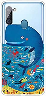 جراب Mylne شفاف لهاتف Samsung Galaxy A11/M11، جراب واقي كامل من السيليكون المرن والناعم والناعم والناعم للغاية