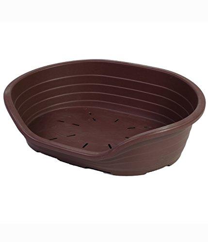 Dehner Cesta para Perros Benji, Aprox. 82 x 60 x 25 cm, plástico, Color marrón