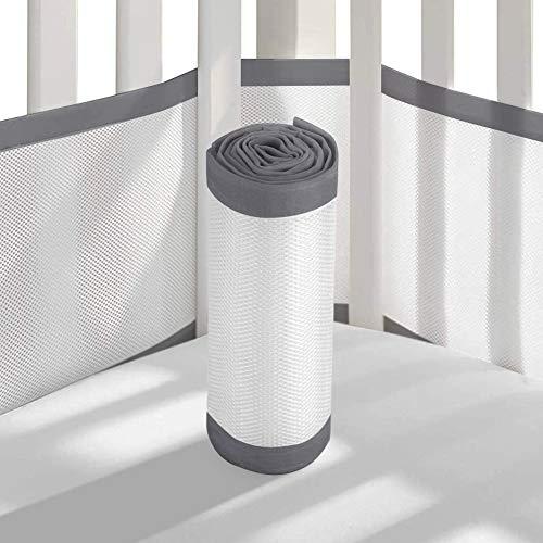 Cuscinetti paracolpi per culla standard, leggeri, lavabili e sicuri, ipoallergenici, in rete per culla