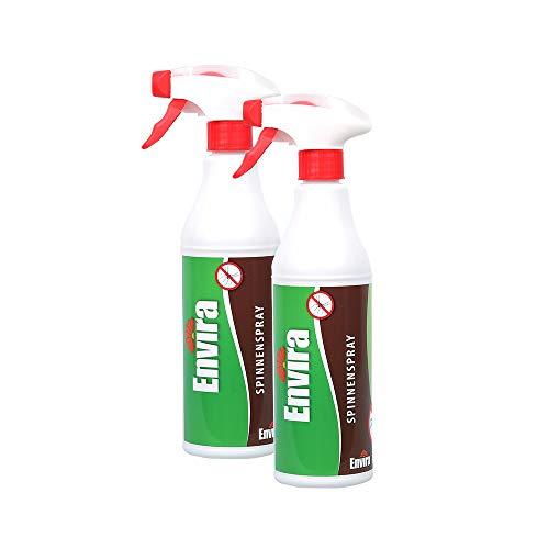 Envira Spinnen-Spray - Anti-Spinnen-Mittel Mit Langzeitwirkung - Geruchlos & Auf Wasserbasis - 2 x 500 ml