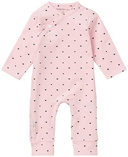 Noppies Baby-Mädchen G Playsuit Jrsy ls Nemi Body, Rosa (Light Rose C092), Frühchen (Herstellergröße: 44)