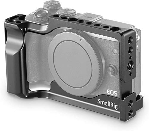 SMALLRIG Cage for Canon EOS M3 and M6 with Built-in Cold Shoe and NATO Rail(Not Compatible with M6 Mark II) - 2130