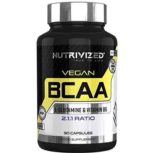 Nutrivized BCAA Vegan Pills - 2.1.1. Ratio - L Glutamine - Vitamin B6