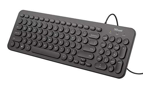 Trust MUTO Leise Tastatur, Schwarz
