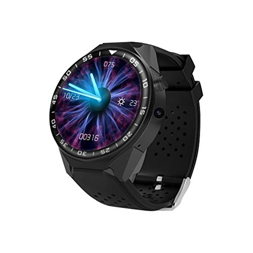 Smartwatch,Android 5.1 MTK6580 Quad Core Smart Watch 1 GB / 16 GB 2MP Kamera 3G Nano SIM Karte WiFi GPS Smart Watch Telefon mit Pulsmesser Schrittzähler (Schwarz)