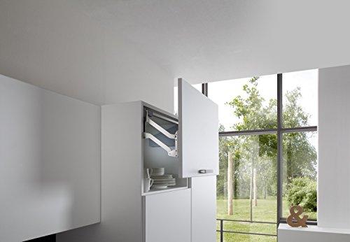 Frontliftbeschlag Küche Klappenbeschlag FREE UP für einteilige Klappen aus Holz | Liftbeschlag für Korpushöhe 320-360 mm | Klappengewicht: 3,0-5,7 kg | Möbelbeschläge von GedoTec®