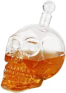 クリスタル スカルヘッド ウォッカ ウイスキー ショット グラス ボトル 飲酒 ホームバー デカンター (1000 ml)
