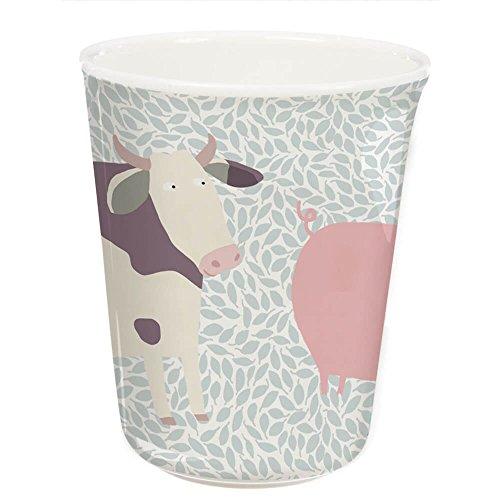 Petit Jour Paris Gobelet en mélamine Motif animaux de la ferme 170 ml – Gobelet pour enfant – Gobelet pour enfant – Gobelet en plastique sans BPA