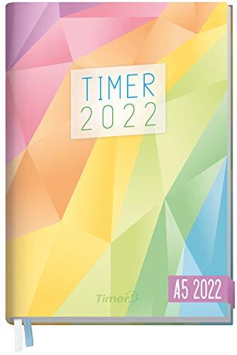 Chäff-Timer Classic Kalender 2022 A5 [Rainbow] mit 1 Woche auf 2 Seiten   Terminplaner, Wochenkalender, Organizer, Terminkalender mit Wochenplaner   nachhaltig & klimaneutral