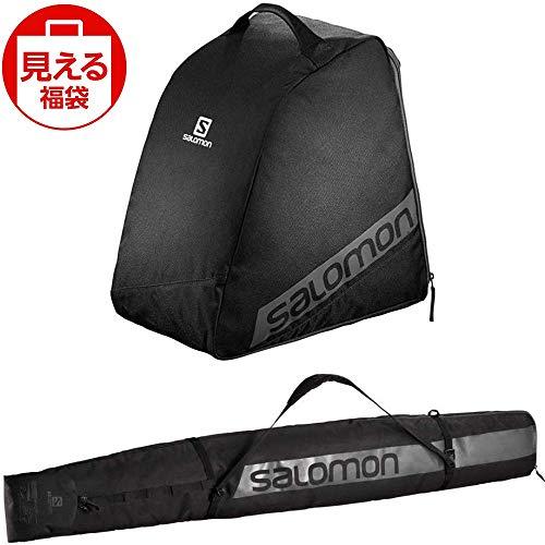 SALOMON(サロモン) スキーバッグセット オリジナル ブーツバッグ ブラック & オリジナル 1 ペアー スキースリーブ ブルーブラック