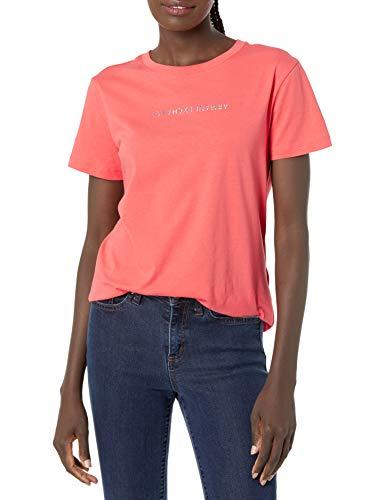 Armani Exchange T-Shirt Camiseta, Sangria, M para Mujer