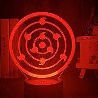 3Dナイトランプ日本のアニメナルトフィギュア子供用寝室の装飾ナイトライト最高の誕生日プレゼント子供用ベッドサイドベッドLedナイトライト-Dj-Qds118_7色リモコンなし