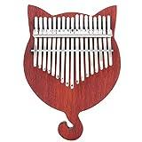 YFFSBBGSDK Piano de Pulgar Piano de Pulgar de Dedo de Madera Maciza de 17 Teclas con Etiqueta de Escala