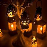 Uonlytech 3pcs lanterna di halloween modello pipistrello luce notturna modello pipistrello lampada da comodino decorativa portatile halloween party prop