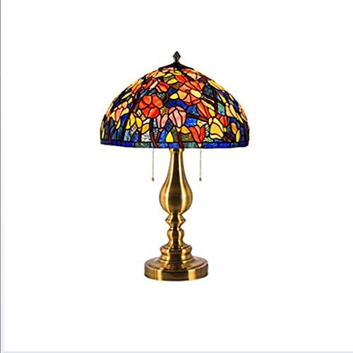 HAO KEAI Lámparas de Mesa Lámparas de Mesa, Plantilla de algodón Lámpara de Noche con Estilo Lámpara de Cama con Estilo Lámpara de Oficina Base en Art Deco Iron Art (Color : 50cm)
