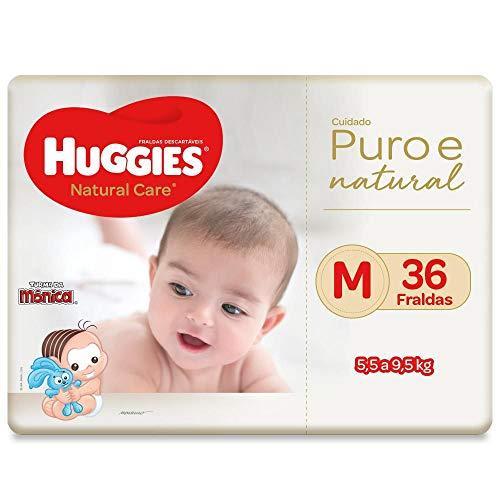 Fralda Huggies Natural Care M, 36 Fraldas, Huggies