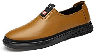 FYKHVF Men's Fashion Trend Casual Shoes Leather England Business Slip-on Loafers Shoes