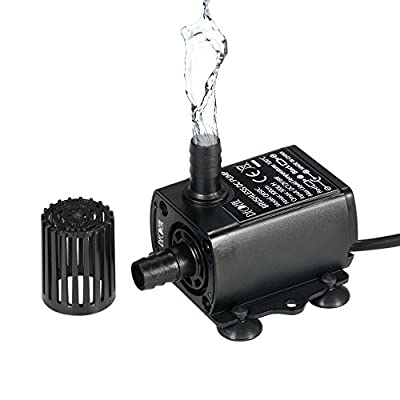 decdeal ultra-tranquilla DC12V 6/10W Pompe de l'eau Brushless avec 5.5* 2.1mm femelle étanche submersible Aquarium