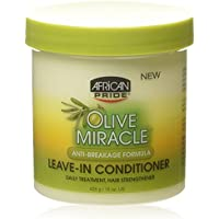 African Pride Olive Miracle Leave-in Conditioner, 15 Ounce