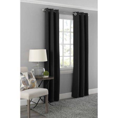 Mainstays Blackout Energy Efficient Grommet Curtain Panel- 40x95 / Black
