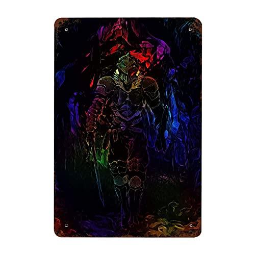 Lsjuee Cómics Pintura al óleo Cartel de chapa Boosette Decorativo Sala de estar Jardín Dormitorio Oficina Hotel Café Bar Anime Pintura de hierro Placa vertical Placa 7.9 'X 11.8'