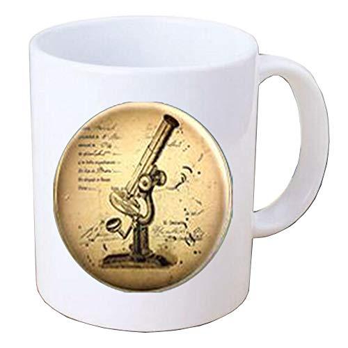 Microscope Coffee Mug,Science Coffee Mug,Microscope Jewellery,Charm Coffee Mug,Scientist Gift,Science Coffee Mug.Science Teacher.F112