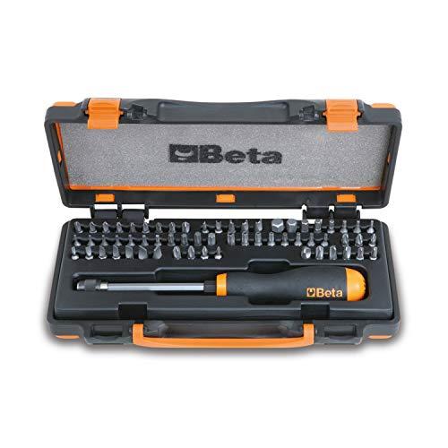 Beta 861/C61P - Cacciaviti con 61 inserti, Set Cacciaviti di Precisione, Giravite professionale con inserti intercambiabili da 230 mm Portainserti a Sgancio Rapido - Dimensioni 270x120x45 mm